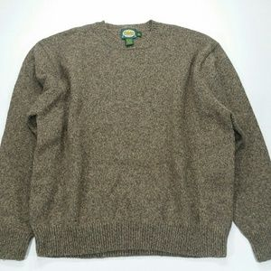4f46b0dd45816 Cabela's Sweaters | Mens Cabelas Brown Crew Neck Knit Sweater Thick ...